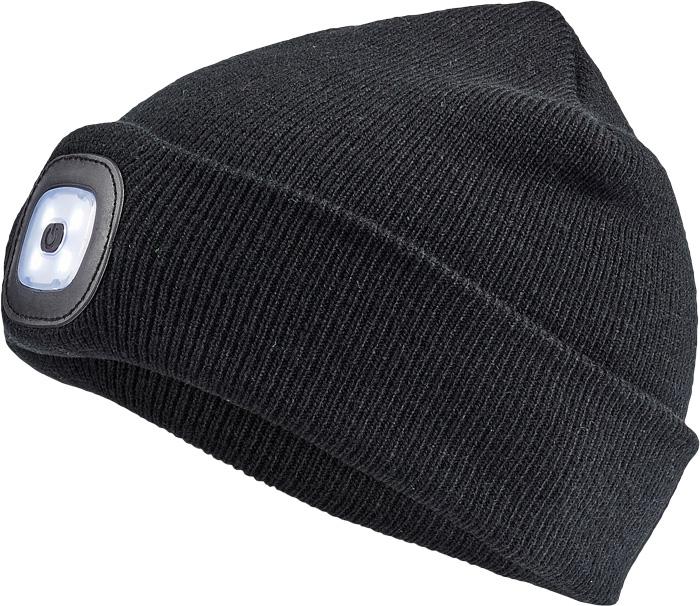 čepice, čepice zimní, s LED lampou