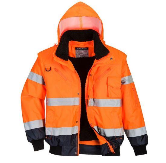 pracovní,bunda,c465,výstražná