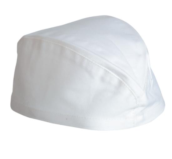 čepice, volans, lodička, bílá