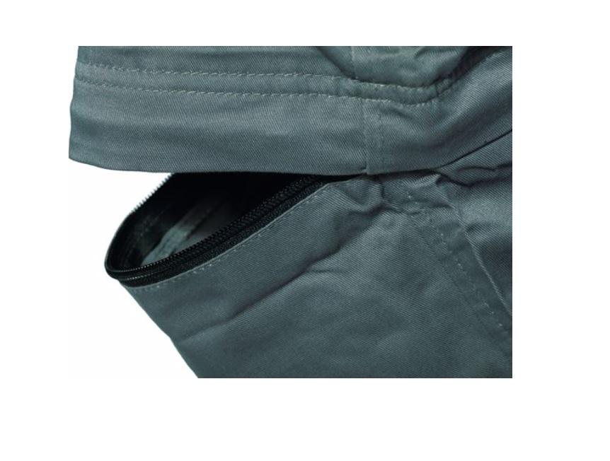 kalhoty, desman, 2v1, šedé