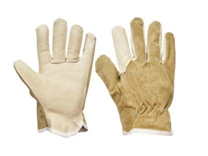 rukavice, kožené, pracovní